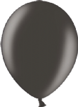 "12"" Metallic Black Latex Balloon"